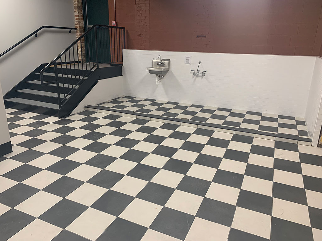 Checkerboard Porcelain Tile | Reading Distilling Guild