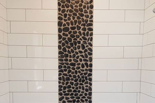 Subway Tile & Pebble Mosaic | Sinking Spring